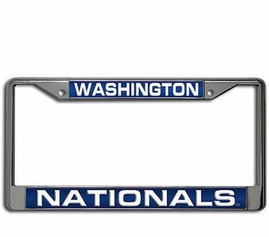 Washington Nationals Laser Etched Chrome License Plate Frame