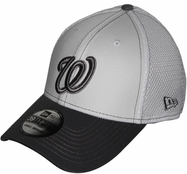 Washington Nationals New Era 39THIRTY Blitz Neo Fitted Hat - Gray