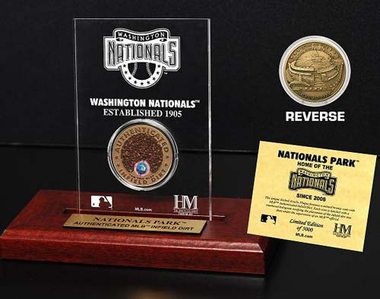 Washington Nationals Nationals Park Infield Dirt Coin Etched Acrylic