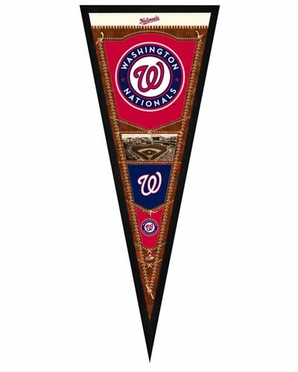 "Washington Nationals Pennant Frame - 13""x33"" (No Glass)"