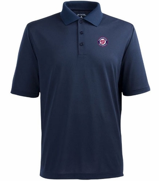 Washington Nationals Mens Pique Xtra Lite Polo Shirt (Team Color: Navy)