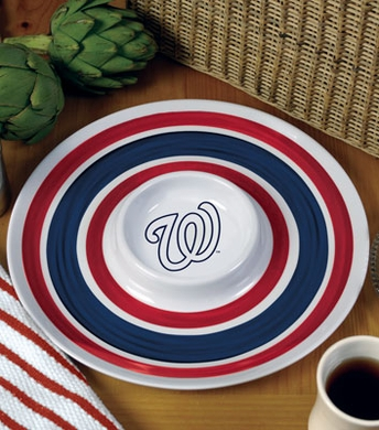 Washington Nationals Plastic Chip and Dip Plate