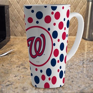 Washington Nationals Polkadot 16 oz. Ceramic Latte Mug