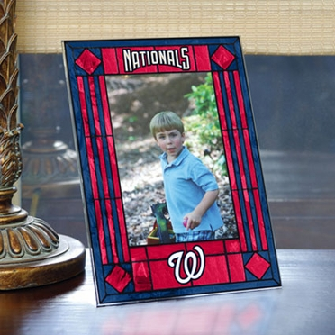 Washington Nationals Portrait Art Glass Picture Frame