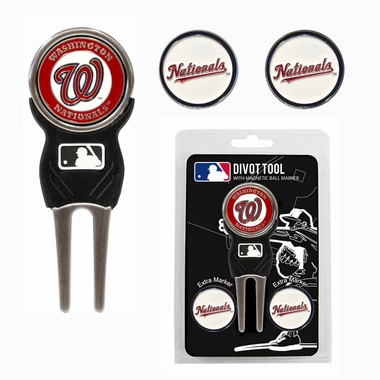 Washington Nationals Repair Tool and Ball Marker Gift Set