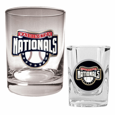 Washington Nationals Rocks and Shot Glass Set