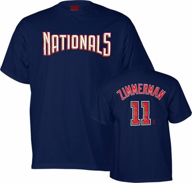 Washington Nationals Ryan Zimmerman Name and Number T-Shirt
