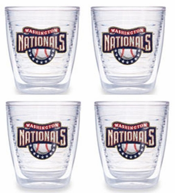 Washington Nationals Set of FOUR 12 oz. Tervis Tumblers