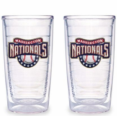 Washington Nationals Set of TWO 16 oz. Tervis Tumblers