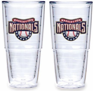 "Washington Nationals Set of TWO 24 oz. ""Big T"" Tervis Tumblers"