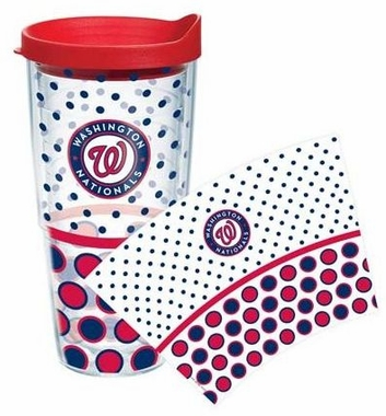 Washington Nationals Set of TWO 24 oz. Tervis Wrap Tumblers w/ Lids