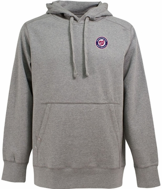 Washington Nationals Mens Signature Hooded Sweatshirt (Color: Gray)