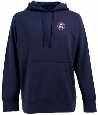 Washington Nationals Mens Signature Hooded Sweatshirt (Team Color: Navy)