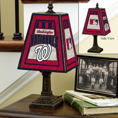 Washington Nationals Small Art Glass Lamp