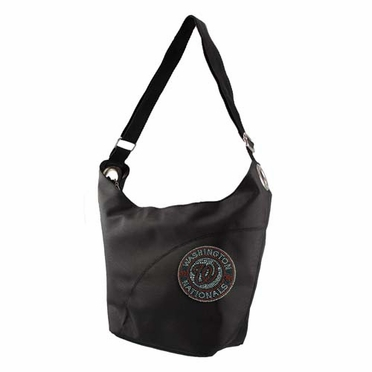 Washington Nationals Sport Noir Sheen Hobo Purse