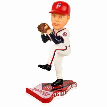 Washington Nationals Stephen Strasburg 2013 Pennant Base Bobblehead Figurine
