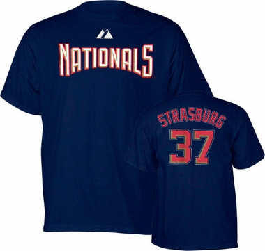 Washington Nationals Stephen Strasburg Name and Number T-Shirt