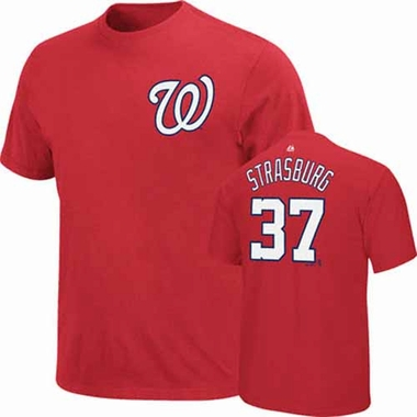 Washington Nationals Stephen Strasburg Player T-Shirt - Red