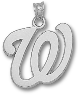 Washington Nationals Sterling Silver Pendant
