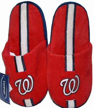 Washington Nationals Team Stripe Slide Slippers