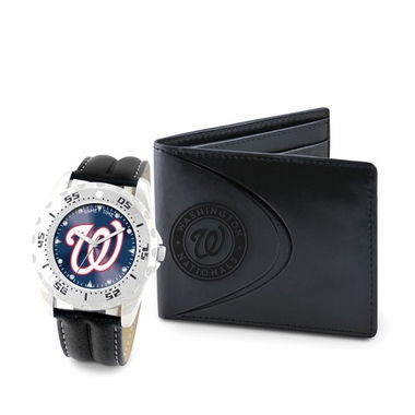 Washington Nationals Watch and Wallet Gift Set