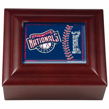 Washington Nationals Wooden Keepsake Box