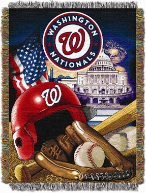 Washington Nationals Woven Tapestry Throw Blanket