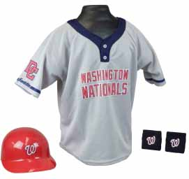 Washington Nationals YOUTH Helmet and Jersey Set