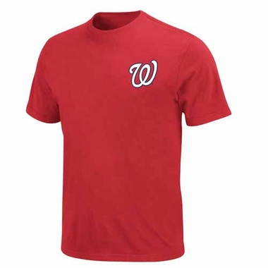 Washington Nationals YOUTH Official Wordmark T-Shirt - Red