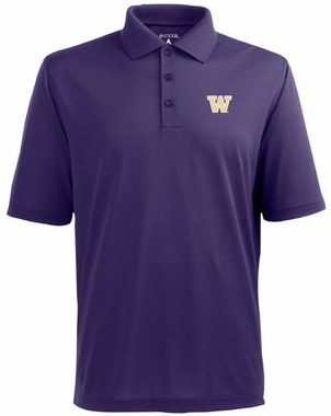 Washington Mens Pique Xtra Lite Polo Shirt (Team Color: Purple)