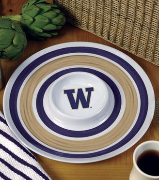 Washington Plastic Chip and Dip Plate