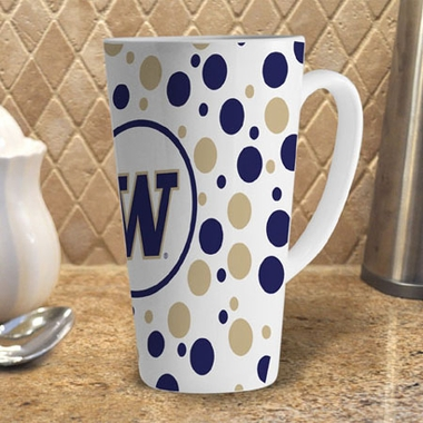 Washington Polkadot 16 oz. Ceramic Latte Mug