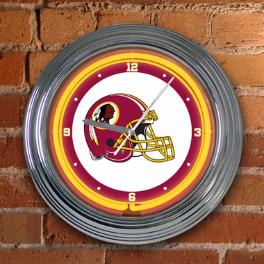 Washington Redskins 15 Inch Neon Clock