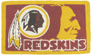 Washington Redskins 18x30 Bleached Welcome Mat