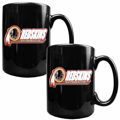 Washington Redskins 2 Piece Coffee Mug Set (Wordmark)