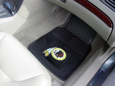 Washington Redskins 2 Piece Heavy Duty Vinyl Car Mats