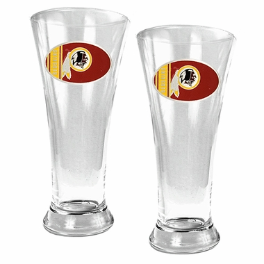 Washington Redskins 2 Piece Pilsner Glass Set