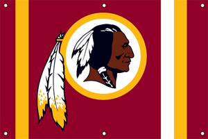 Washington Redskins 2 x 3 Horizontal Applique Fan Banner