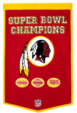 "Washington Redskins 24""x36"" Dynasty Wool Banner"