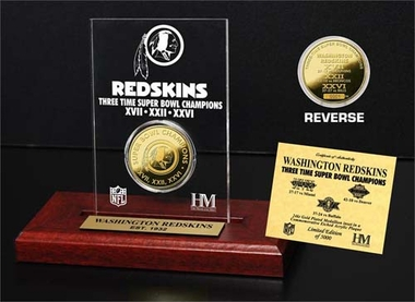 Washington Redskins Washington Redskins 3x SB Champs Etched Acrylic