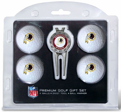 Washington Redskins 4 Ball and Tool Gift Set