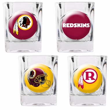 Washington Redskins 4 Piece Assorted Shot Glass Set