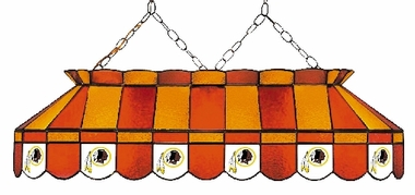 Washington Redskins 40 Inch Rectangular Stained Glass Billiard Light