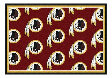 "Washington Redskins 5'4"" x 7'8"" Premium Pattern Rug"