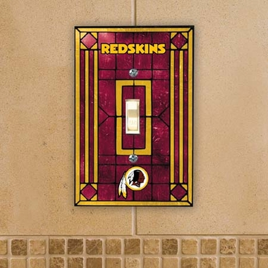 Washington Redskins Art Glass Lightswitch Cover