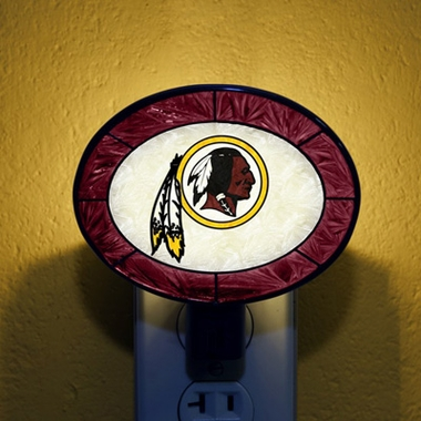 Washington Redskins Art Glass Night Light