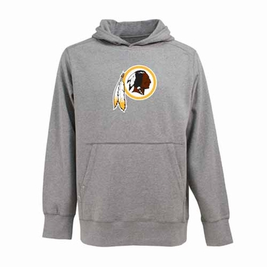 Washington Redskins Big Logo Mens Signature Hooded Sweatshirt (Color: Gray)