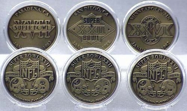 Washington Redskins WASHINGTON REDSKINS BRONZE SUPER BOWL COLLECTION