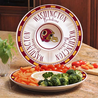 Washington Redskins Ceramic Chip and Dip Plate
