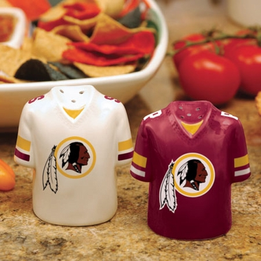 Washington Redskins Ceramic Jersey Salt and Pepper Shakers